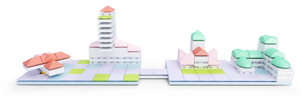 The ArcKit Cityscape kits add more colorful components that can be used to enhance miniature city models. Image: ArcKit.