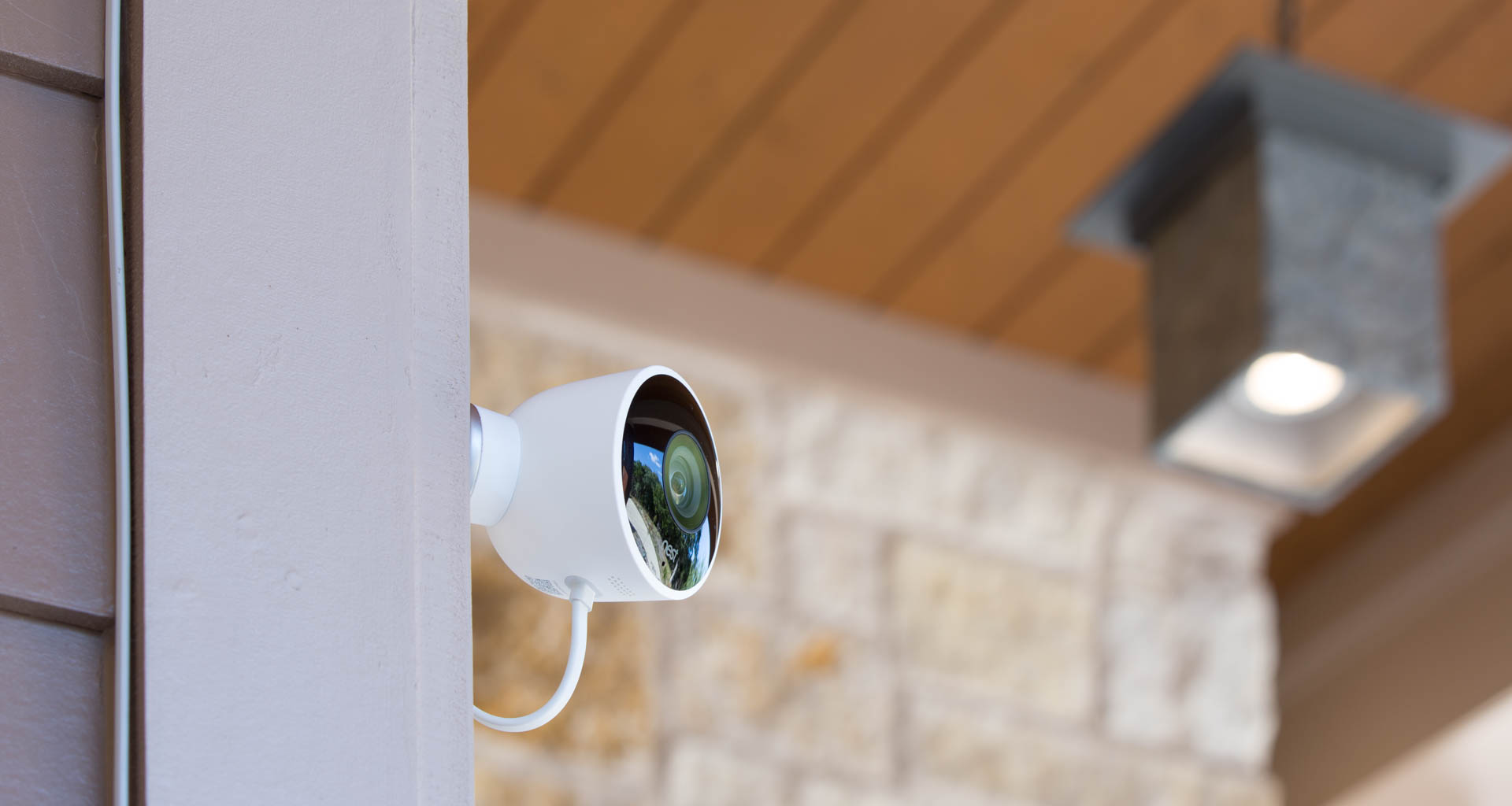 Security cameras, such as this Nest Cam Outdoor, offer video streaming services and will require incremental bandwidth. Image: Digitized House Media.