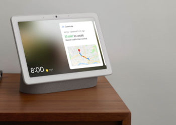 From the new Google Nest brand, the Nest Hub Max. Image: Google Nest.