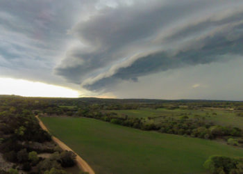 approaching storm front in texas hill country