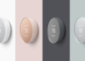 The latest Nest Thermostat is molded in plastic and sports a sleeker design. Image: Google.